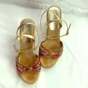 Cole Haan Espadrille Wedge Sandals Size 7.5